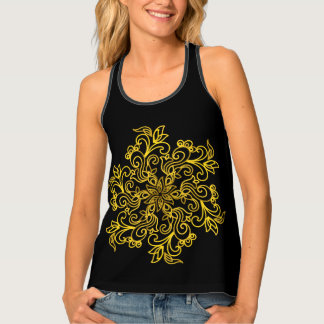 Gorgeous golden mandala tank top