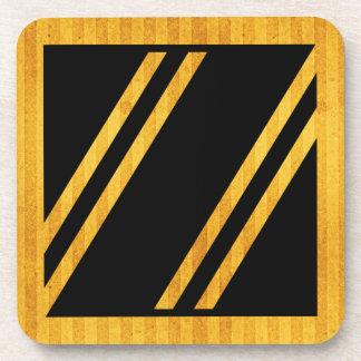 "Gorgeous Golden Monogram Coaster, Letter ""z"" Coaster"