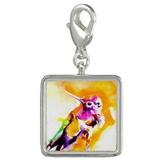 Gorgeous Gorget Hummingbird Print Charm