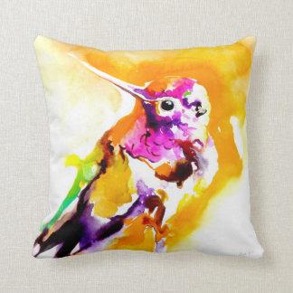 """""""Gorgeous Gorget"""" Hummingbird Print Throw Pillow"""