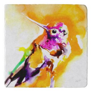 """Gorgeous Gorget"" Hummingbird Print Trivet"