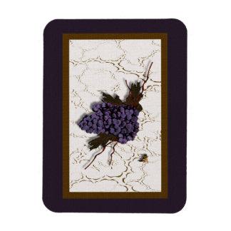 Gorgeous Grapes Rectangular Photo Magnet