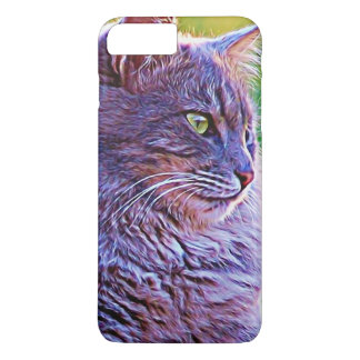 Gorgeous Graphic Grey Cat iPhone 8 Plus/7 Plus Case