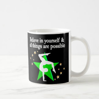 GORGEOUS GREEN GYMNASTICS DESIGN COFFEE MUG