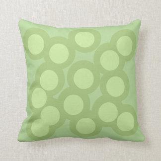 Gorgeous Green Pillow/Cushion Vers 2 Circles Throw Pillow