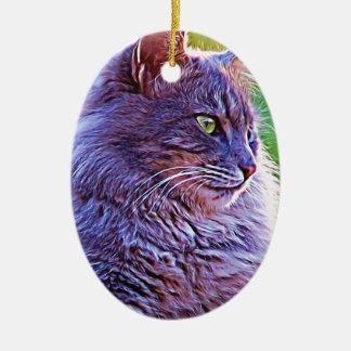 Gorgeous Grey Cat Ornament