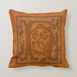 Gorgeous H Monogram/Old Letter Pillow! Throw Pillow