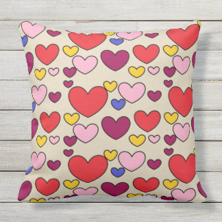 Gorgeous Hearts Throw Pillow