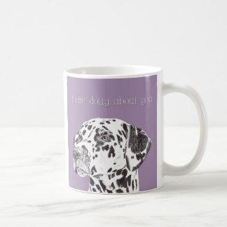 """Gorgeous """"I am dotty about you"""" dalmation dog mug"""