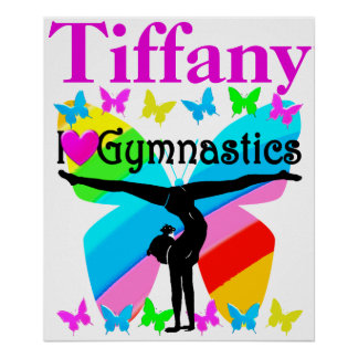 GORGEOUS I LOVE GYMNASTICS PERSONALIZED POSTER