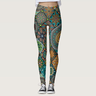 Gorgeous Intricate Ethnic Vintage Pattern Leggings