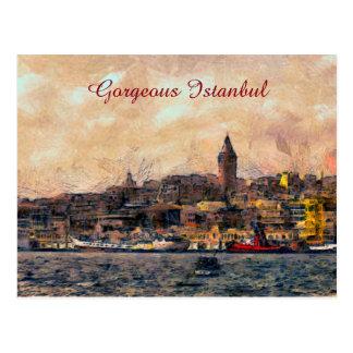 Gorgeous Istanbul Postcard