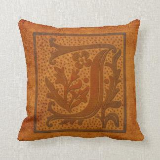 Gorgeous J Monogram/Old Letter Pillow! Throw Pillow