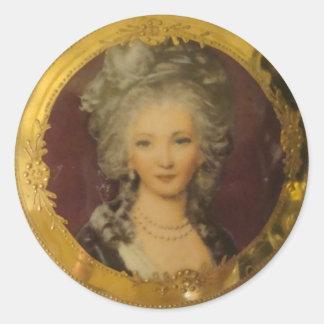 Gorgeous Lady Classic Round Sticker