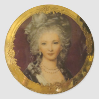 Gorgeous Lady Round Sticker