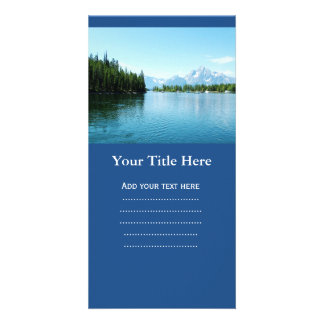 gorgeous landscape photography - lake, mountain, picture card