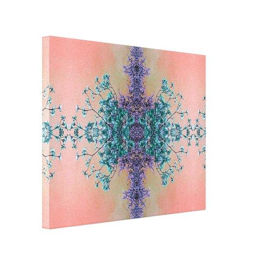Gorgeous Lavender Teal Blush Artistic Blossoms Canvas Print