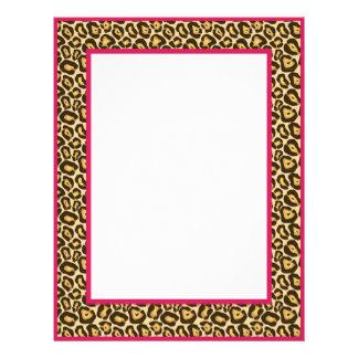 Gorgeous Leopard Print Border Stationery - Pink