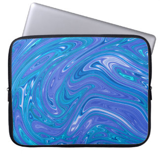 Gorgeous Marble style - vivid blue Laptop Sleeve
