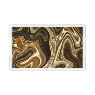 Gorgeous Marble Style - Warm brown Acrylic Tray