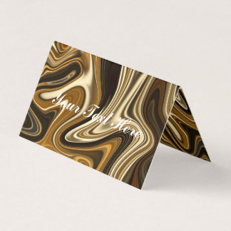 Gorgeous Marble Style - Warm brown Business Card