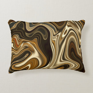 Gorgeous Marble Style - Warm brown Decorative Pillow
