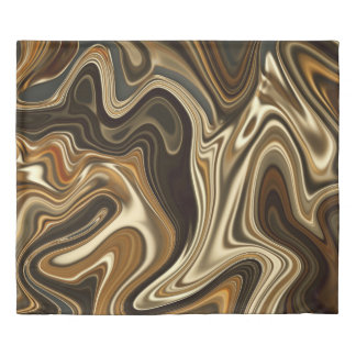 Gorgeous Marble Style - Warm brown Duvet Cover