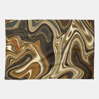 Gorgeous Marble Style - Warm brown Kitchen Towel