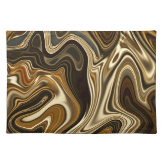 Gorgeous Marble Style - Warm brown Placemat