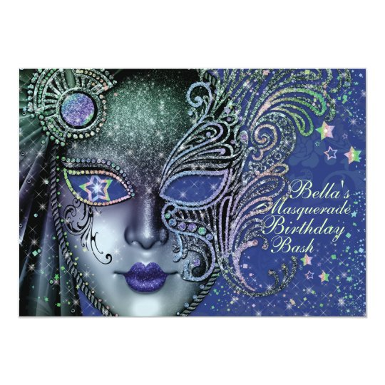 Gorgeous Masquerade Party Invitations