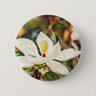 Gorgeous Mississippi Magnolia 2 Inch Round Button