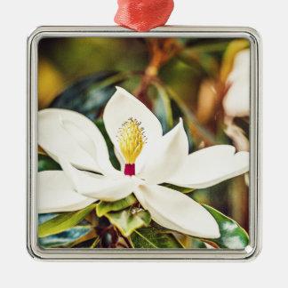 Gorgeous Mississippi Magnolia Metal Ornament