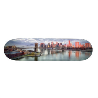 Gorgeous morning view and city reflections skateboard decks