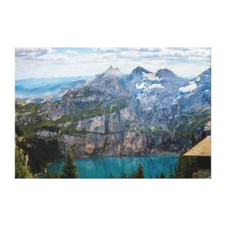 Gorgeous Mountain and Ocean Scenic View Canvas Print