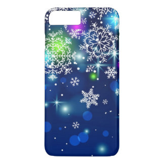 gorgeous multi colored snowflakes iPhone 7 plus case