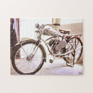 Gorgeous Old Vintage Motorized Bicycle Puzzle