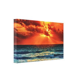 Gorgeous Orange and Blue Sunset Canvas Art