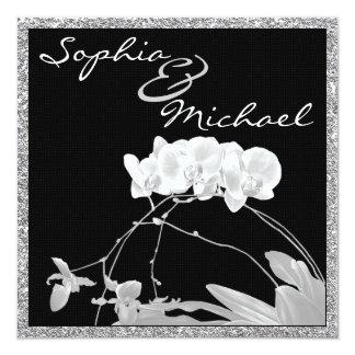 "Gorgeous Orchid Wedding Invitation 5.25"" Square Invitation Card"