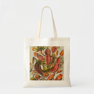 Gorgeous Painted Vintage Flowers Budget Tote Bag