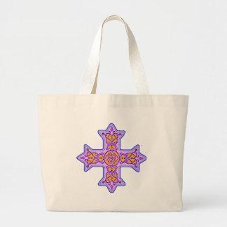 Gorgeous Pastel Coptic Cross Large Tote Bag
