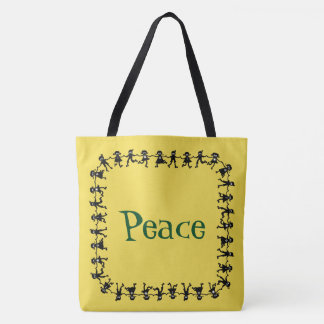 Gorgeous PEACE Message Tote Bag
