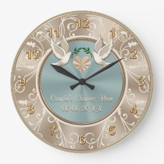 Gorgeous PERSONALIZED Wedding Clock with YOUR TEXT