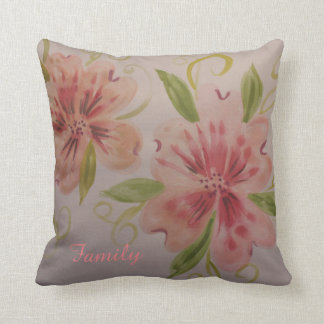 Gorgeous pink coral decorator pillow
