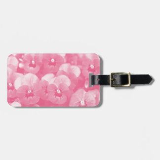 GORGEOUS PINK GARDEN FLORAL LUGGAGE TAG