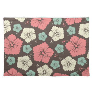 Gorgeous Pink Green and Cream Floral Place Mat