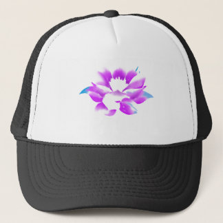 GORGEOUS PINK LOTUS WATER FLOWER TRUCKER HAT