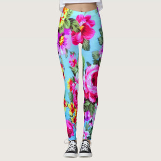 Gorgeous pink, purple,yellow  Floral Leggings