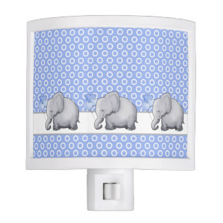 Gorgeous Polka Dots Elephant Nursery Baby Boy Nite Lights