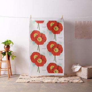Gorgeous Poppies: 1940 illustration Fabric