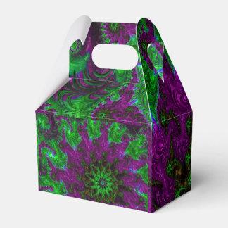 Gorgeous Purple and Lime Fractal Favor Box
